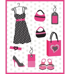 Dress card with dots vector