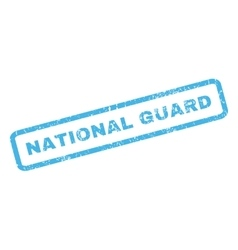National guard rubber stamp vector