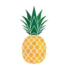 Pineapple yellow icon vector