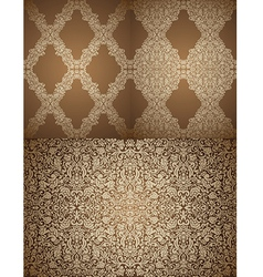 Set of seamless damask wallpapers vector