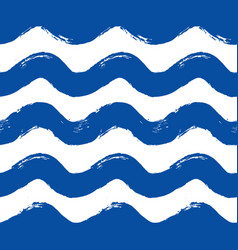Painted blue wave pattern vector