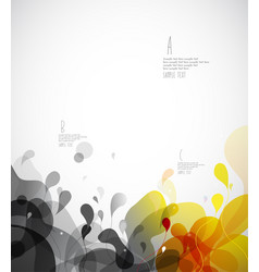 Abstract colored background template with circles vector