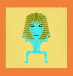 flat shading style icon mummy halloween monster vector image