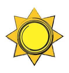 Sun tropical hot climate image vector