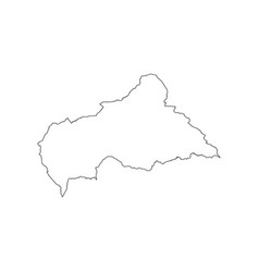 Central african republic map vector