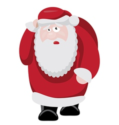 Tired santa after new years celebration vector