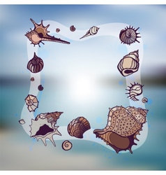 Frame of seashells vector image