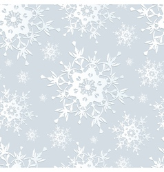 Seamless pattern gray with snowflakes vector image