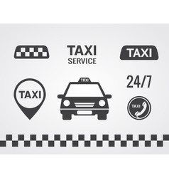 Taxi icons set vector