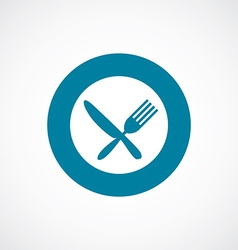 Restaurant icon bold blue circle border vector
