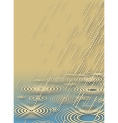 rain shower vector image