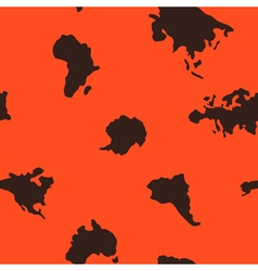 Seamless background with continents vector