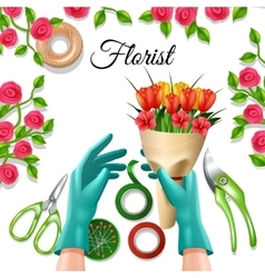 Florist color concept vector