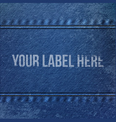 Realistic denim blue cloth texture vector