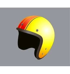 Yellow motorbike helmet vector