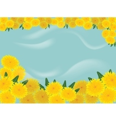 Dandelions blue background vector
