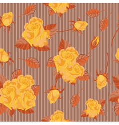 seamless yellow roses vector image