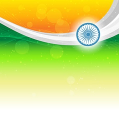 Beautiful indian flag vector