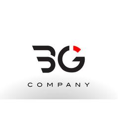 bg logo letter design vector image