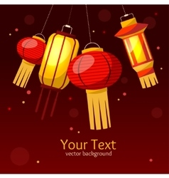 Chinese Paper Street or House Lantern Background vector image vector image