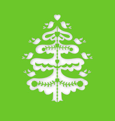 christmas tree laser cutting template vector image