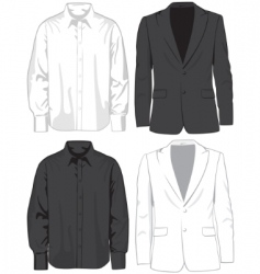 Coats and shirts vector
