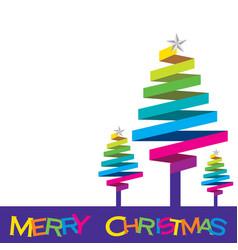 colorful christmas tree design vector image