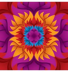 Colorful flower kaleidoscope vector