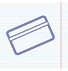 Credit card symbol for download navy line vector