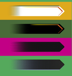 digital style arrow banners vector image vector image