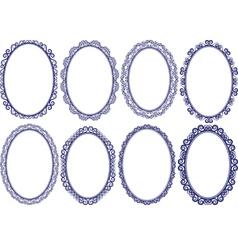 Frames oval vector