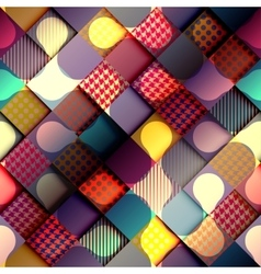Geometric diagonal background with relief effect vector