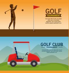 Golf tournament poster design vector