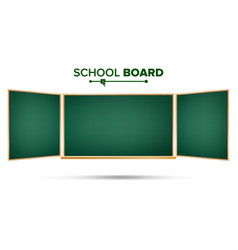 green chalkboard classic empty study vector image vector image