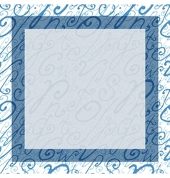 Hand drawn square background or frame vector