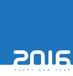 Happy new year 2016 The inscription is made out of vector image vector image
