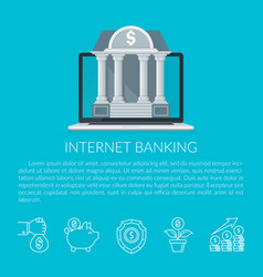 internet banking vector image vector image