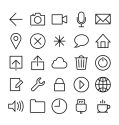 ios 7 icons set vector image vector image