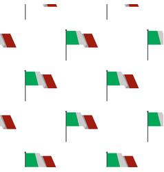Italian flag pattern flat vector