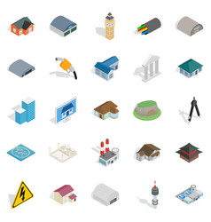 Kick around icons set isometric style vector