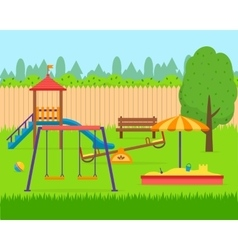 Kids playground set vector image