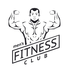 Mens fitness logo vector
