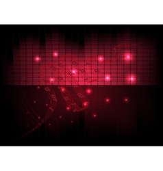 Musical abstract background with equalizer notes vector