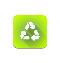 recycle waste sign icon vector image
