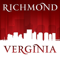 Richmond Virginia city skyline silhouette vector image vector image