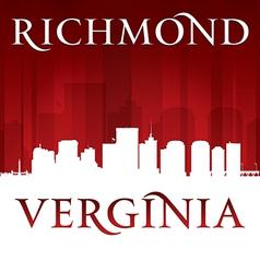 Richmond Virginia city skyline silhouette vector image