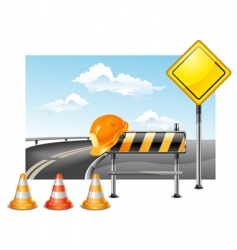 road construction vector image vector image