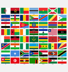set of flags of all african countries vector image vector image