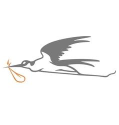 Stork simple vector
