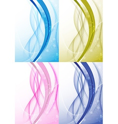 Transparent background with abstract wave vector image vector image